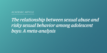 The relationship between sexual abuse and risky sexual behavior among adolescent boys: A meta-analysis