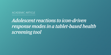 Adolescent reactions to icon-driven response modes in a tablet-based health screening tool