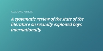 A systematic review of the state of the literature on sexually exploited boys internationally