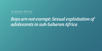 Boys are not exempt: Sexual exploitation of adolescents in sub-Saharan Africa