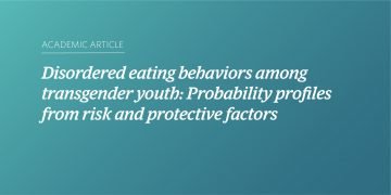 Disordered eating behaviors among transgender youth: Probability profiles from risk and protective factors