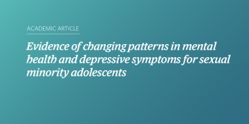 Evidence of changing patterns in mental health and depressive symptoms for sexual minority adolescents