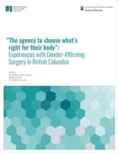 """The agency to choose what's right for their body"": Experiences with Gender-Affirming Surgery in British Columbia"