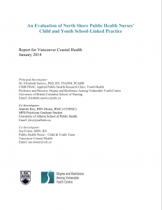 Evaluation of North Shore Public Health Nurses' Child and Youth School-Linked Practice