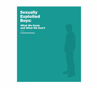 Sexually Exploited Boys: What We Know and What We Don't