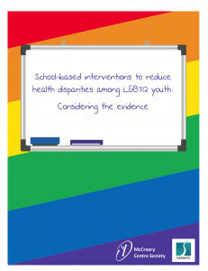 School-based interventions to reduce health disparities among LGBTQ youth: Considering the evidence
