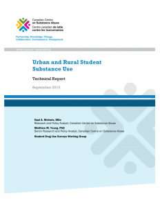 Urban and rural student substance use: Technical report