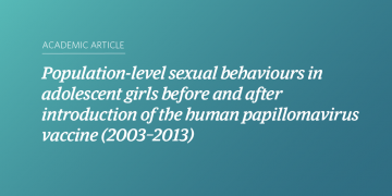 Population-level sexual behaviours in adolescent girls before and after introduction of the human papillomavirus vaccine (2003–2013)