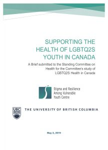 Supporting the Health of LGBTQ2S Youth in Canada