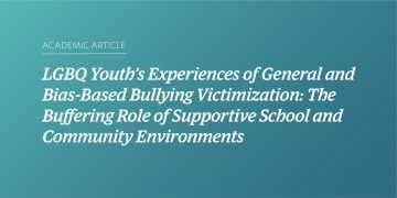 LGBQ Youth's Experiences of General and Bias-Based Bullying Victimization: The Buffering Role of Supportive School and Community Environments