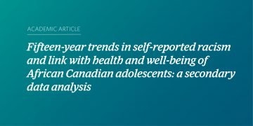 Fifteen-year trends in self-reported racism and link with health and well-being of African Canadian adolescents: a secondary data analysis